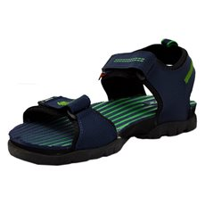 Sparx Men's Navy Blue and Green