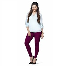 Lux Women Cotton Leggings -Mauve